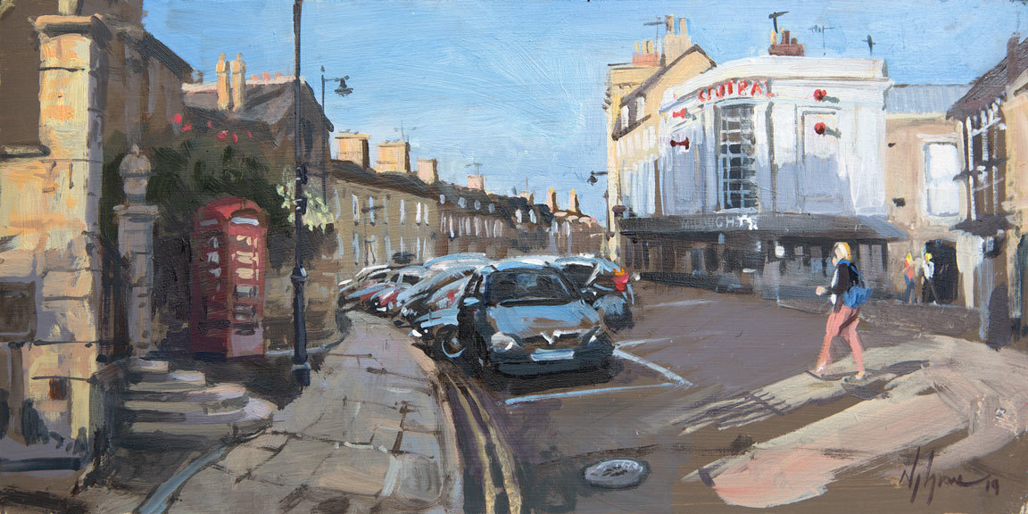 Top of Crown Street, Stamford Painting by Stamford Artist Nick Grove