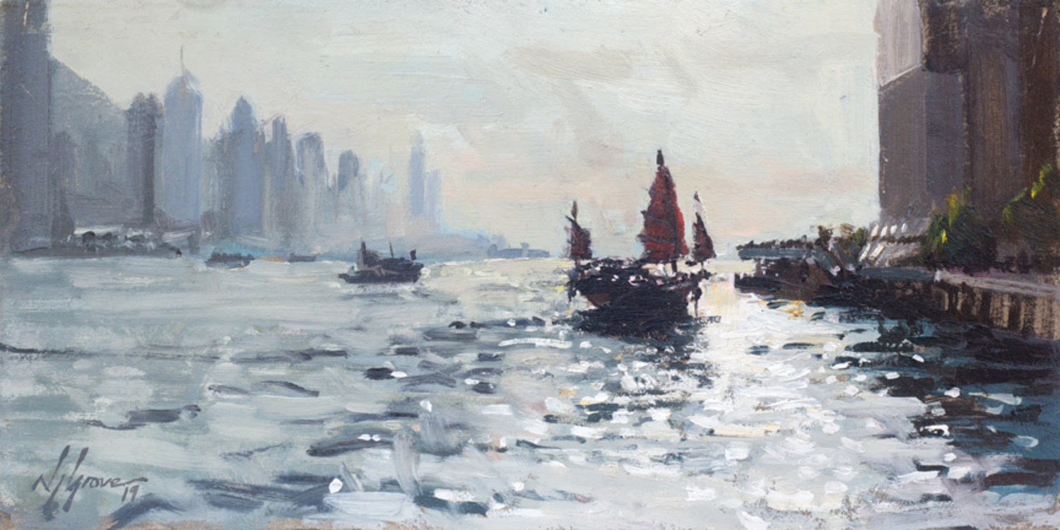 Afternoon Light On Victoria Harbour, Hong Kong