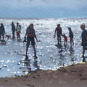 Incoming Tide, Old Hunstanton, Oil On Canvas Board, 12in X 10in