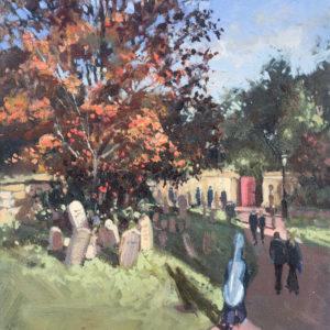 Churchyard Autumn, Oundle