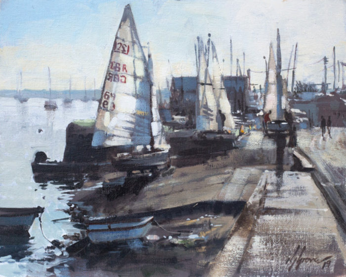 Preparing the Dinghys, Wells-next-the-Sea
