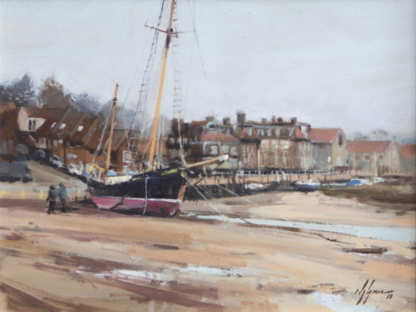 'The Tall Ship at Blakeney', Norfolk