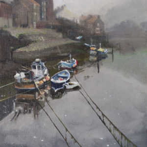 Misty Morning up the Beck, Staithes