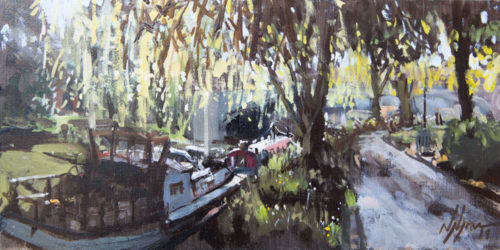 Willows And Boats On The Cam, Cambridge