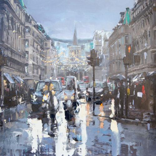 Regent St, Rush Hour & Rain