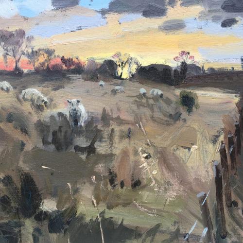 Dawn In Rutland, January 2019, 10x8in, Oil On Board