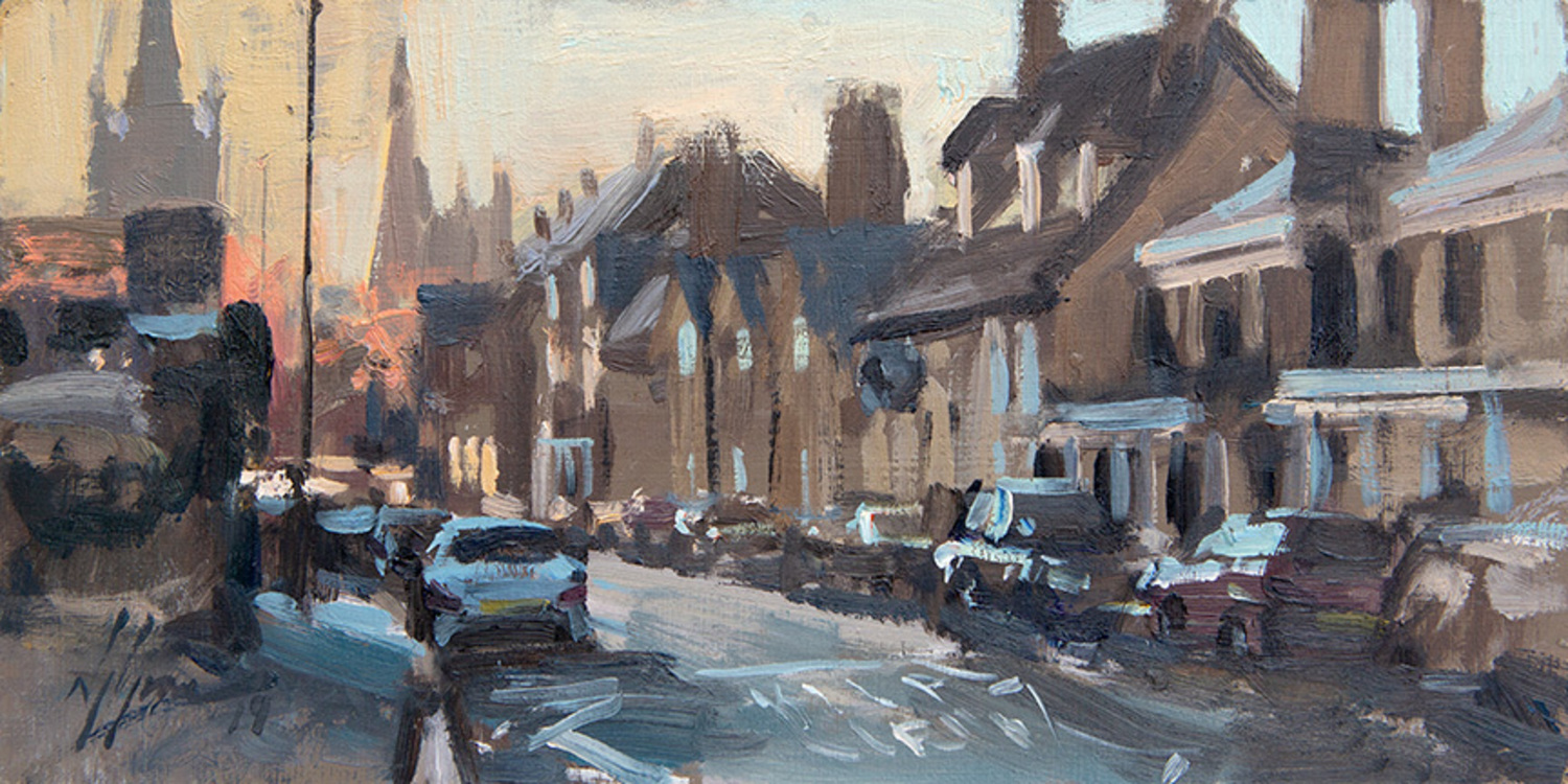 Scotgate in frost, Stamford