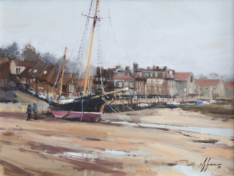'The Tall Ship at Blakeney', Norfolk