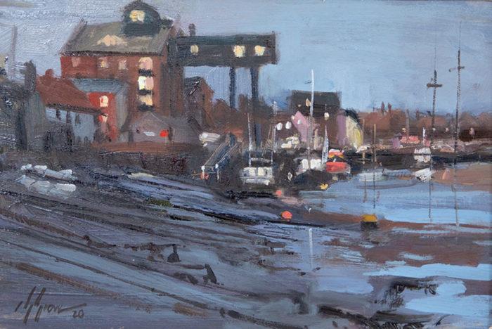 Sunrise In Wells Next The Sea Norfolk Painting by Nick Grove Norfolk Artist