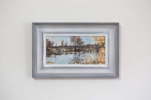 The River Nene, Oundle, Painting