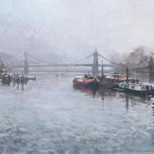Towards Hammersmith Bridge, Early Morning, March
