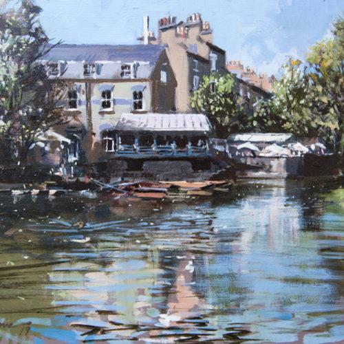 May Sun on Mill Pond, Cambridge