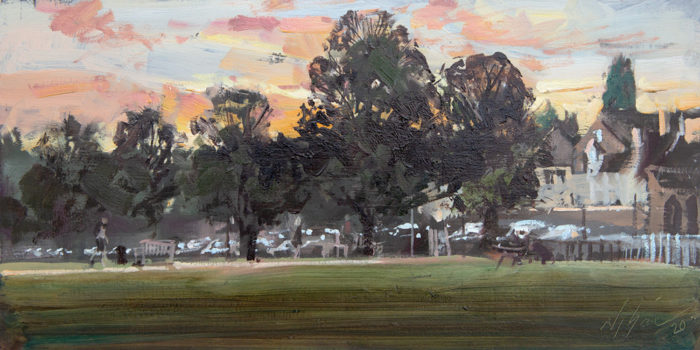 Sunset at the Meadows, Stamford