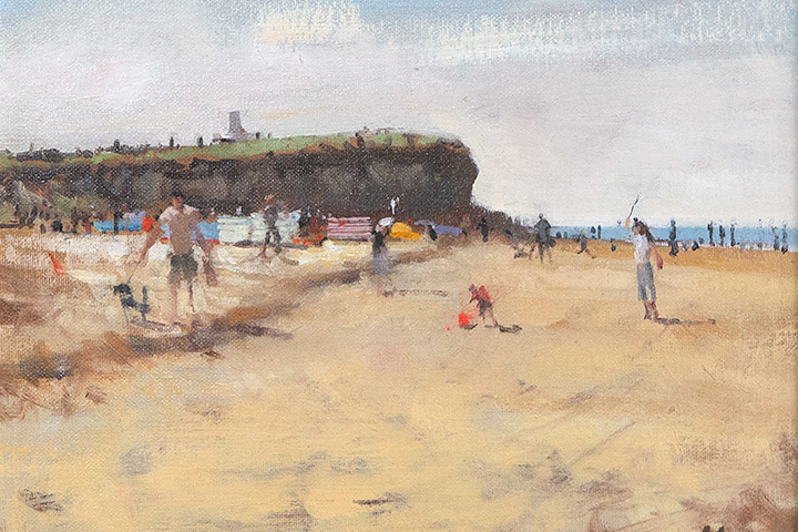 Fun and Games, Old Hunstanton, Oil Painting by Nick Grove Artist