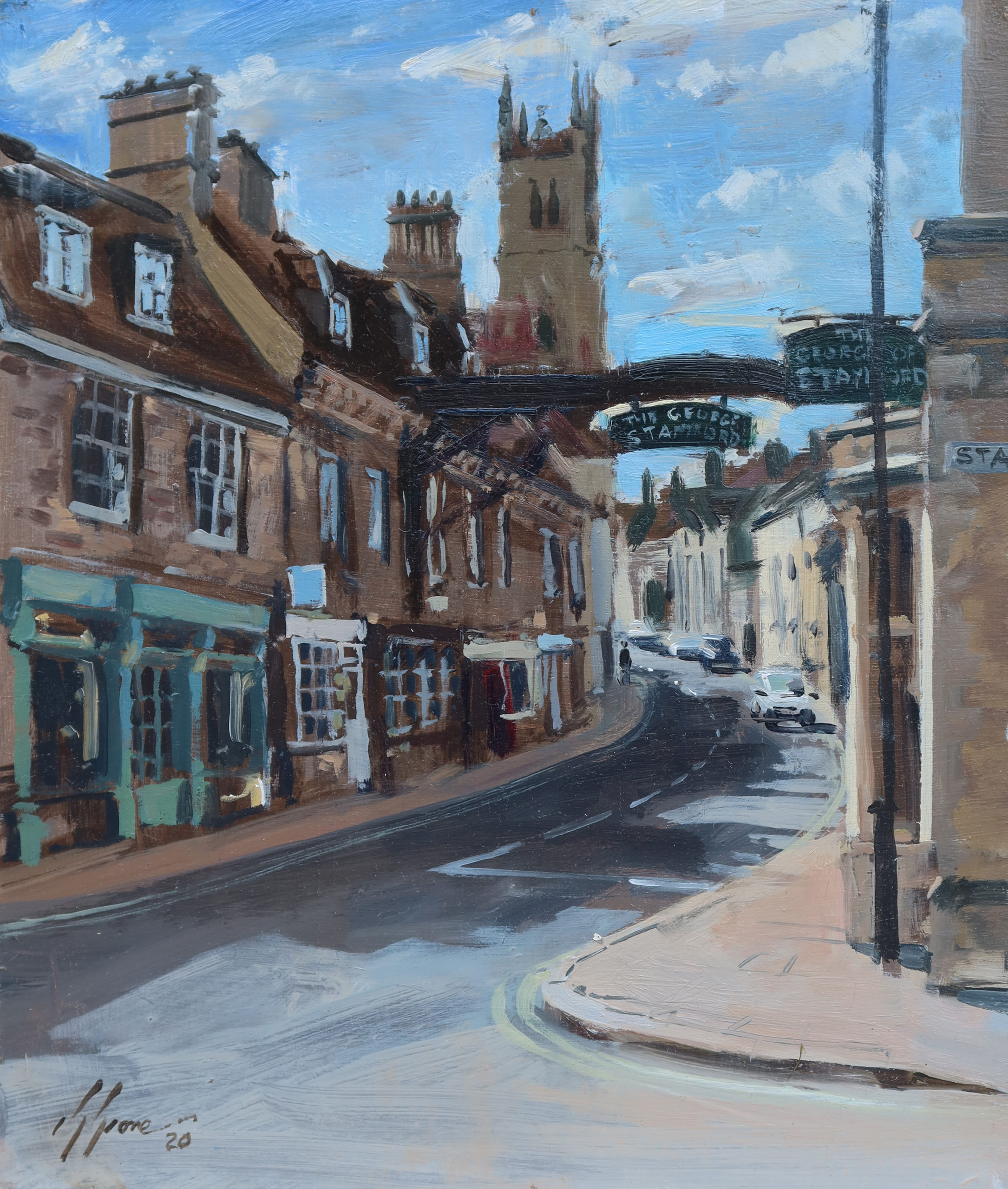 High Street St Martins, from the Crossroads, Stamford