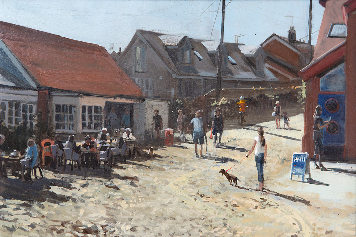 The Old Boat House, Old Hunstanton, Oil painting by Nick Grove
