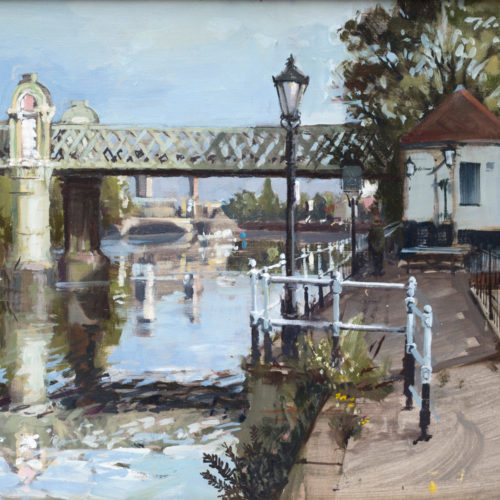 Kew Gardens (Aka Meeting Mike Rich) London Painting by Nick Grove Artist