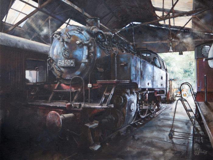 64305, Wansford Sheds, Print