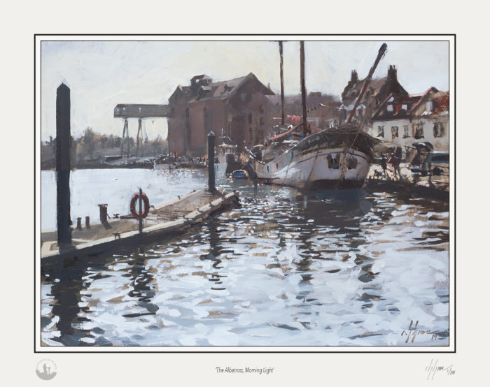 The Albatross Morning Light, Limited Edition Giclee Print by Nick Grove Artist