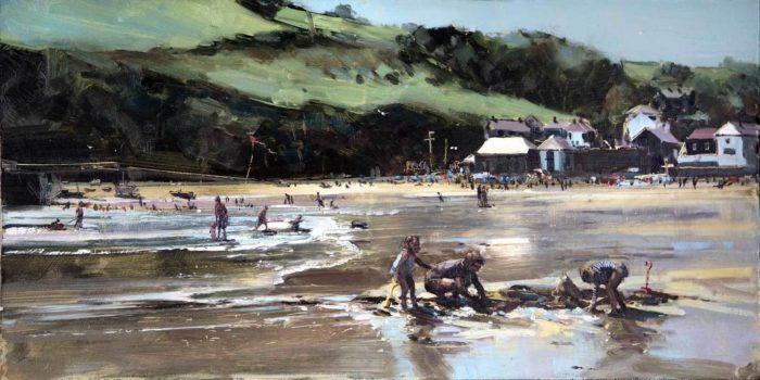 Fun on the beach, Gorran Haven, Cornwall