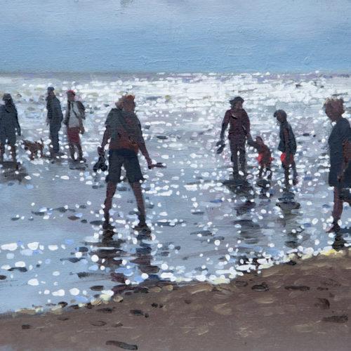 Incoming Tide, Old Hunstanton, Oil On Canvas Board, 12in X 10in