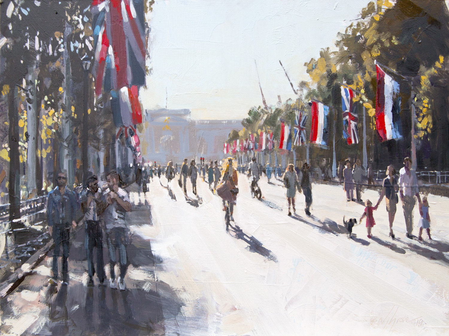 The Mall, The Tricolour And The Union Jack