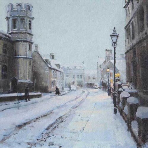 Snowy morning, New-St, Oundle