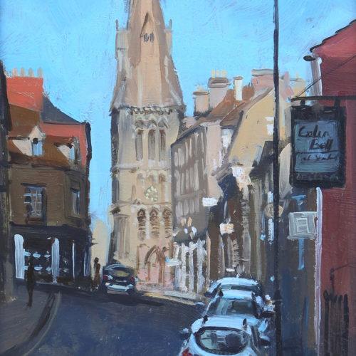 Evening sun, St Mary's, Stamford