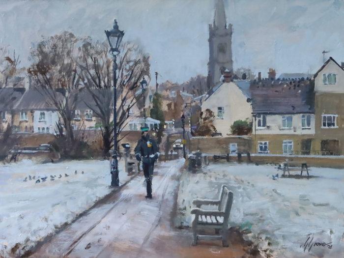 Frosty Start, Town Meadows, Stamford