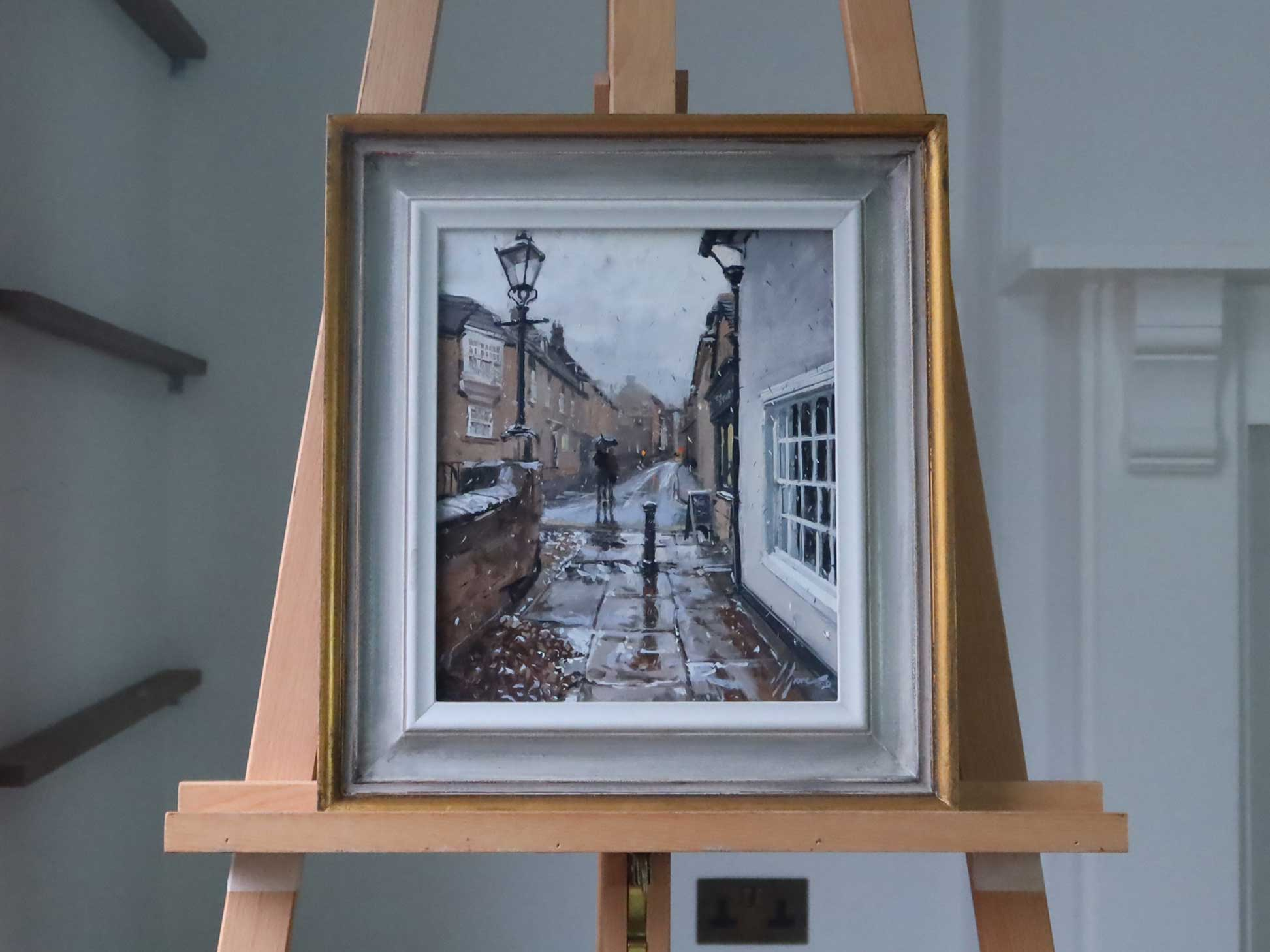 Rain on St George's St, Stamford, Easel
