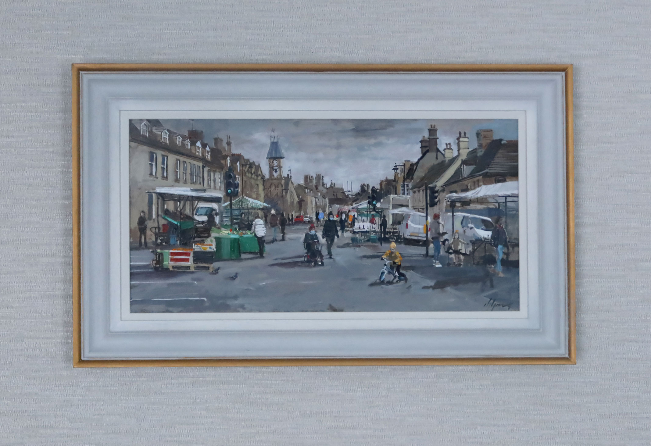 Market Day Oil Painting Nick Grove
