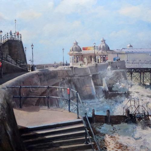 Cromer Pier. Plein-air paintings by Nick Grove.