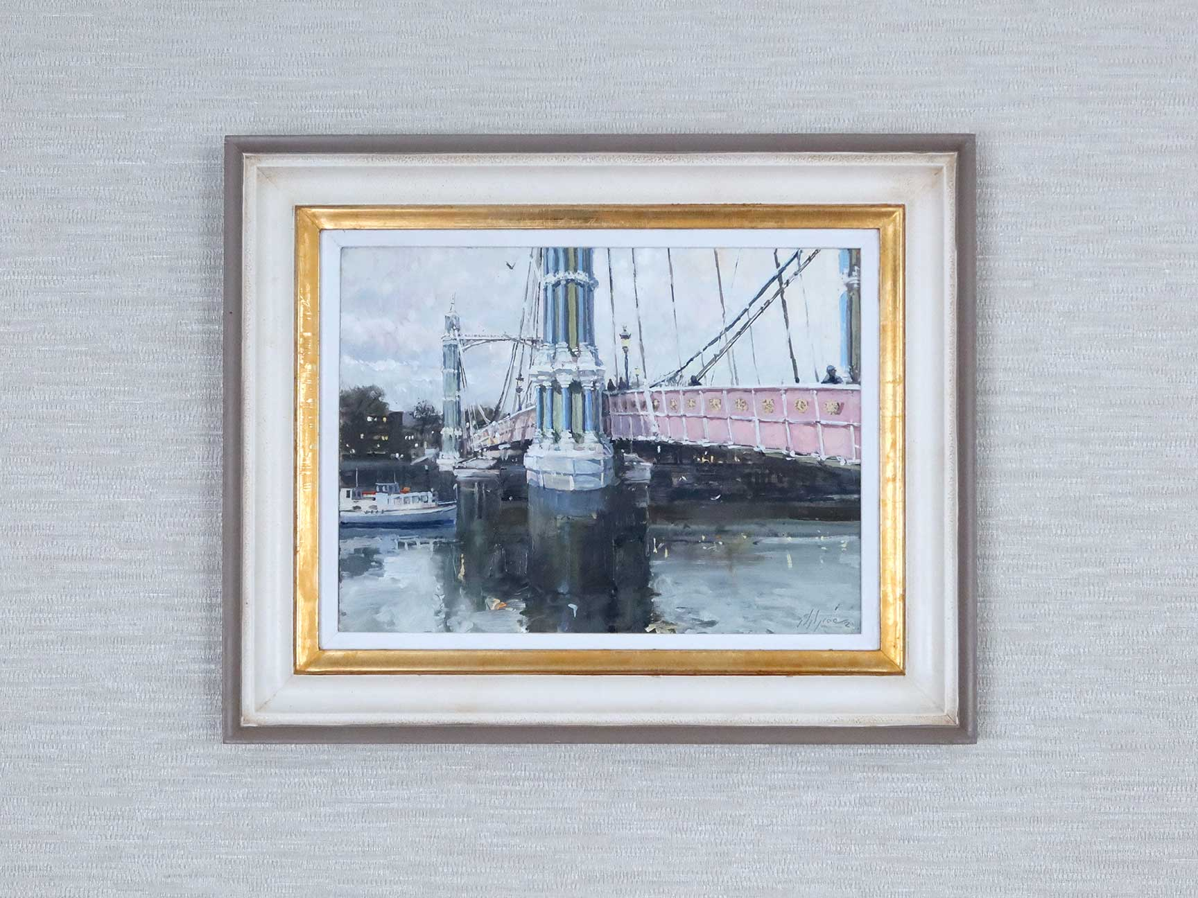 Albert Bridge, London, painting by Nick Grove