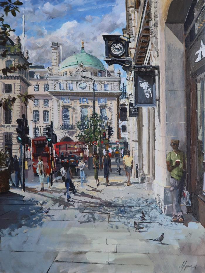 Regent Street Saint James's Painting by Nick Grove