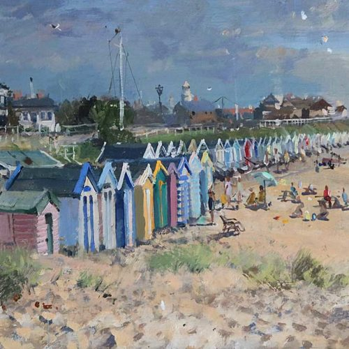 Southwold Beach Painting by Nick Grove
