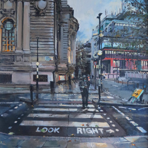 Tothill Street, SW1, London. Studio painting by Nick Grove Artist. London paintings by Nick Grove.