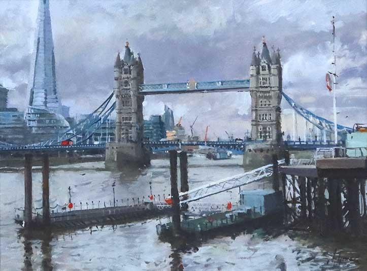Tower Bridge Oil Painting by Nick Grove