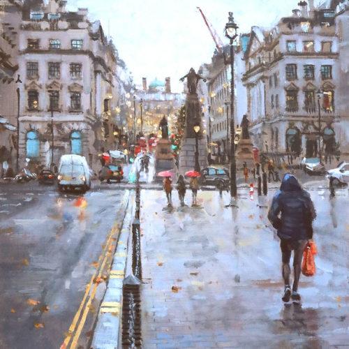 Waterloo Place-2020 Plein Air Oil Painting by Nick Grove Artist